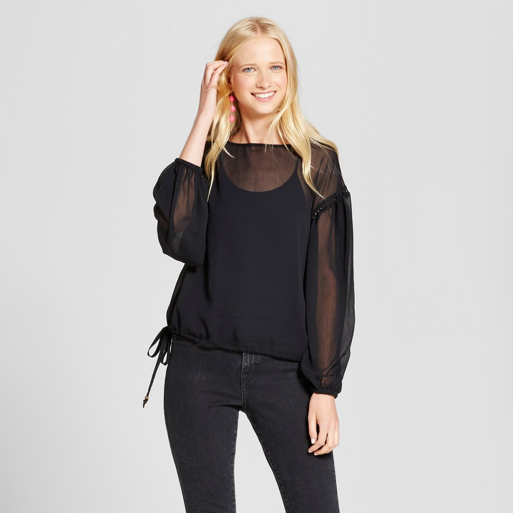Womens Chiffon Top - Mossimo Supply Co. Black M