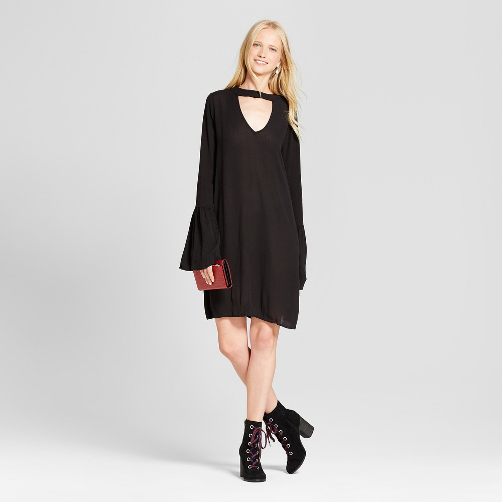Womens Long Sleeve Woven Dress - Mossimo Supply Co. Black S
