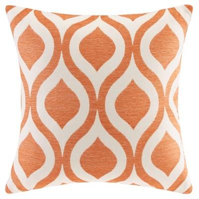 Orange Mestre Chenille Jacquard Throw Pillow 20 x20