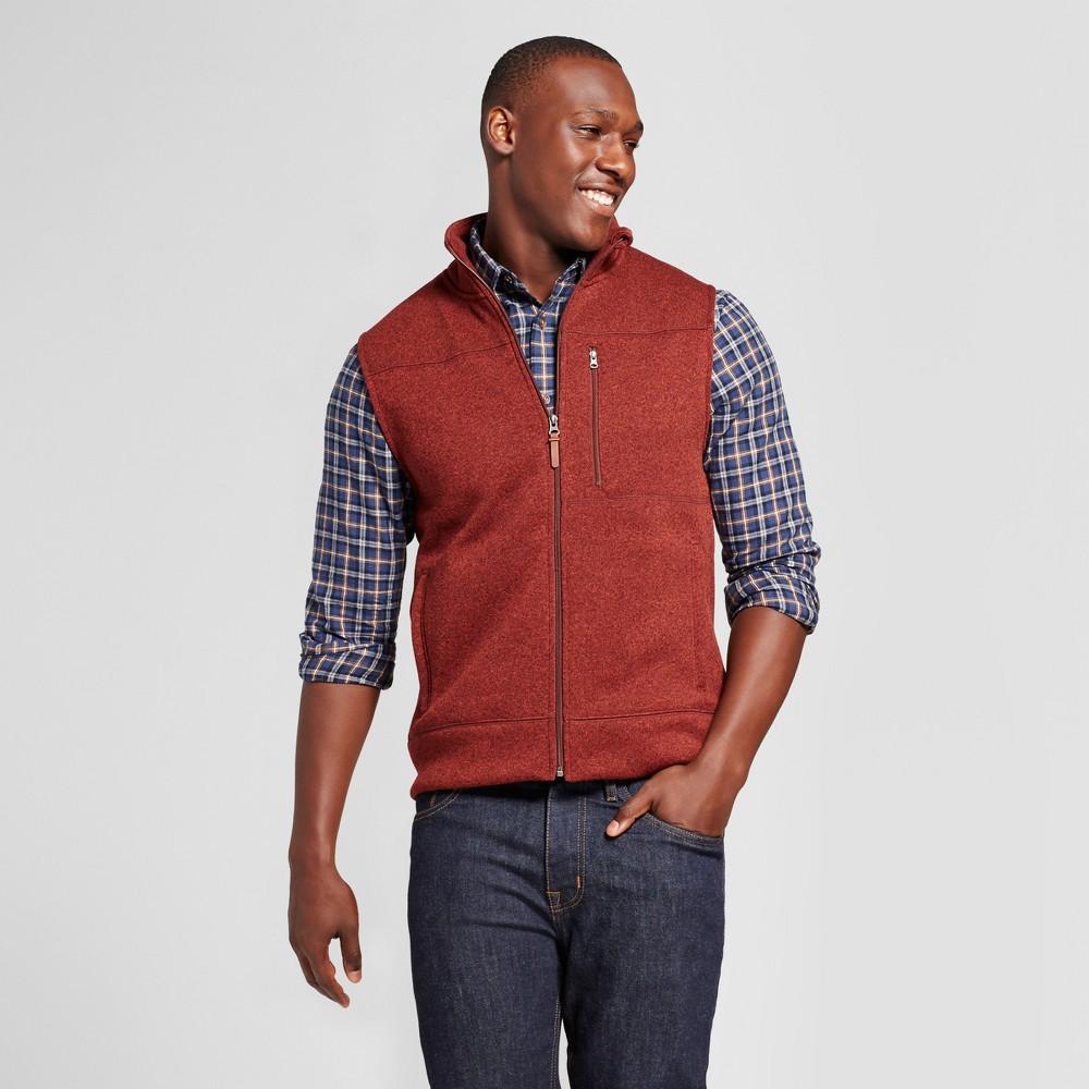 Mens Standard Fit Sweater Fleece Vest - Goodfellow & Co Painted Desert Xxl