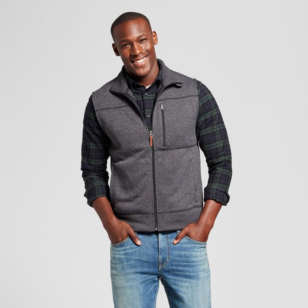 Mens Standard Fit Sweater Fleece Vest - Goodfellow & Co Gray Xxl