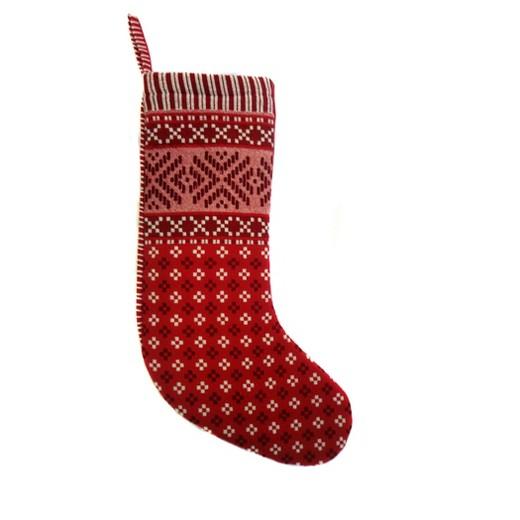 Woven Fair Isle Christmas Stocking Red - Wondershop™ : Target