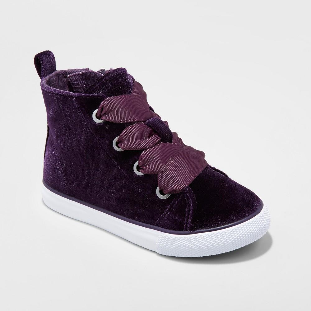 Toddler Girls Jory Velvet High Top Sneakers Cat & Jack Purple 12