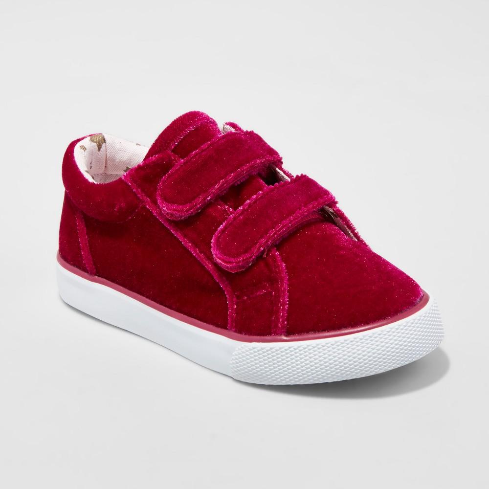 Toddler Girls Tatum Double Strap Velcro Sneakers Cat & Jack - Pink 11