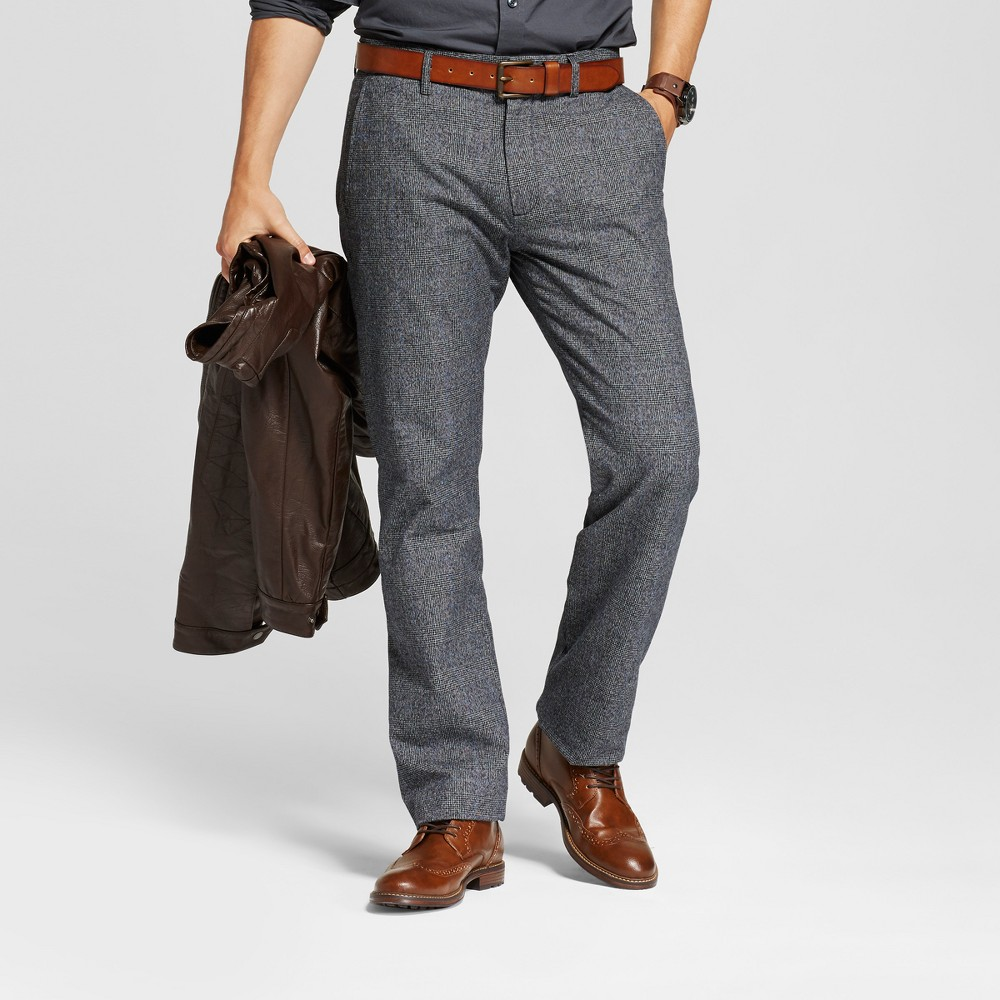 Mens Straight Fit Trouser Pants - Goodfellow & Co Black 36x32