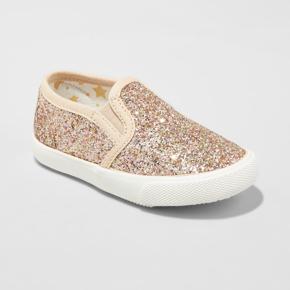 Toddler Girls Jane Double Gore Sneakers Cat & Jack - Gold 10
