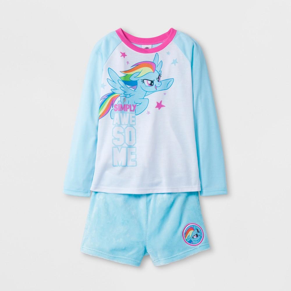 Girls Hasbro My Little Pony Pajama Set - Blue M