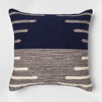 Two Tone Throw Pillow (18 )- Blue/Gray - Project 62™