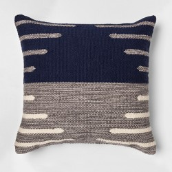 """Two Tone Throw Pillow (18"""") - Blue/Gray - Project 62™"""