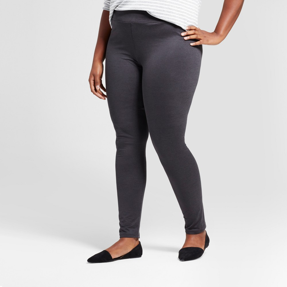 Womens Plus Size Leggings - A New Day Gray X