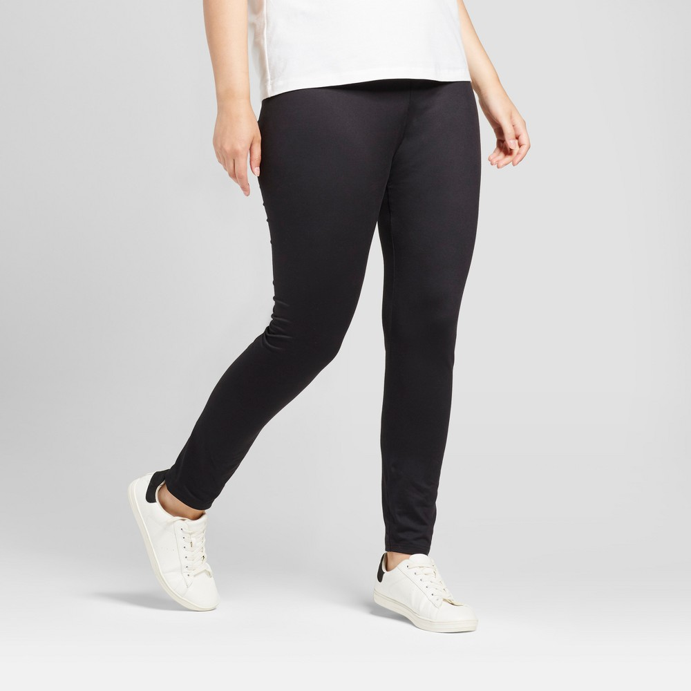 Womens Plus Size Leggings - A New Day Black X