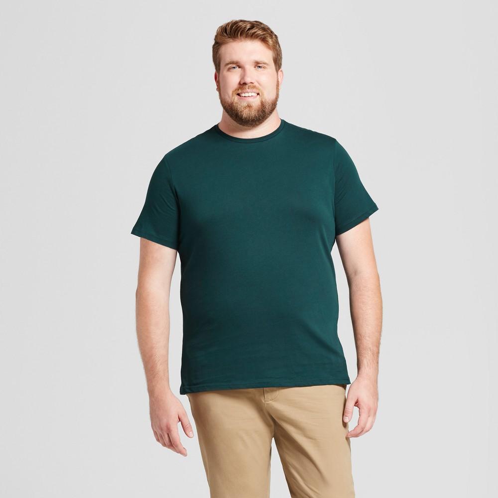 Mens Big & Tall Standard Fit Short Sleeve Crew T-Shirt - Goodfellow & Co Green 4XB