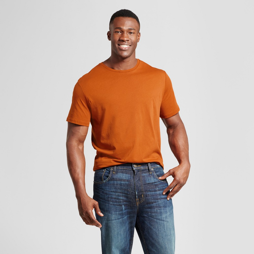 Mens Big & Tall Standard Fit Short Sleeve Crew T-Shirt - Goodfellow & Co Pink 2XB, Orange