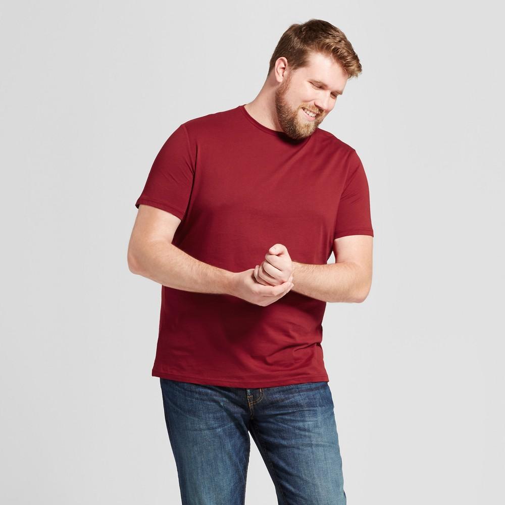 Mens Big & Tall Standard Fit Short Sleeve Crew T-Shirt - Goodfellow & Co Red 5XBT
