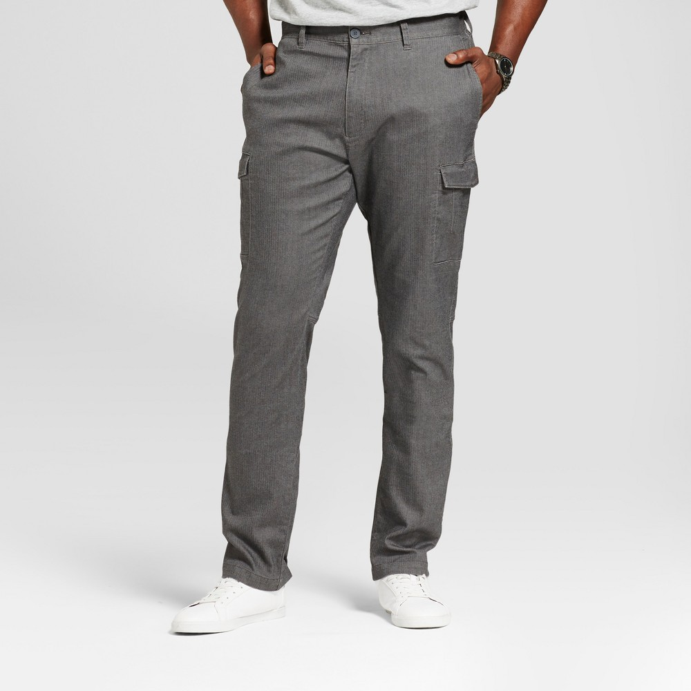 Men's Big & Tall Slim Fit Cargo Pants - Goodfellow & Co Gray 44X36