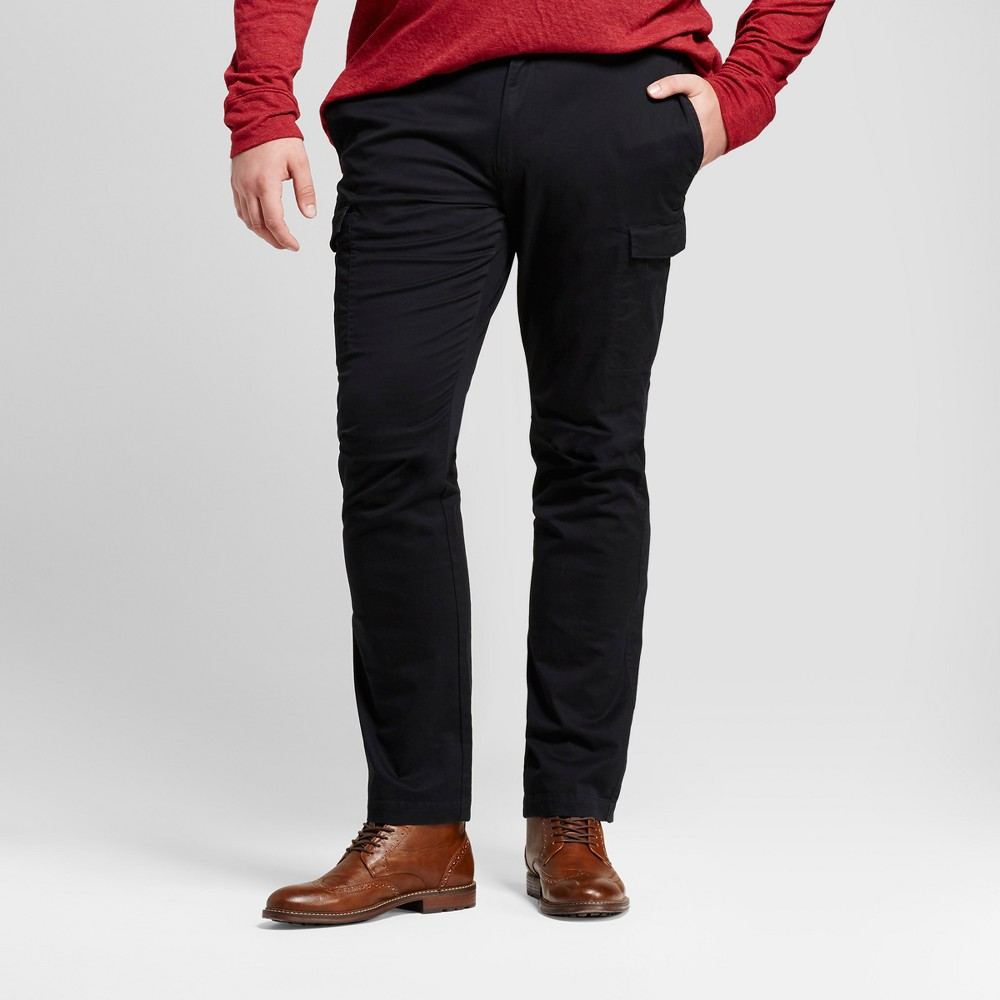Mens Big & Tall Slim Fit Cargo Pants - Goodfellow & Co Black 46X32