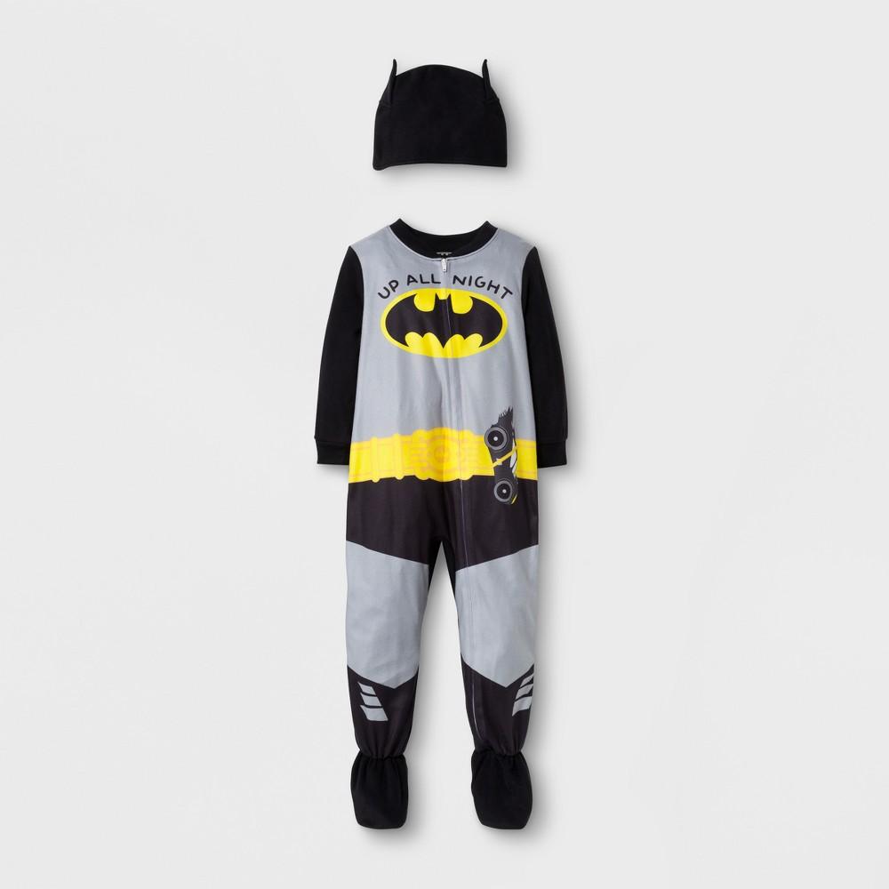Toddler Boys 2pc Batman Footed Sleeper - Black 18M, Size: 18 M