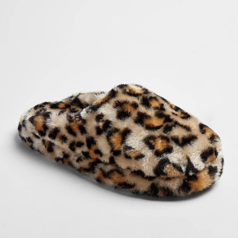 Womens Cordette Plush Scuff Slippers - Mossimo Supply Co. XL(11), Size: XL (11), Leopard