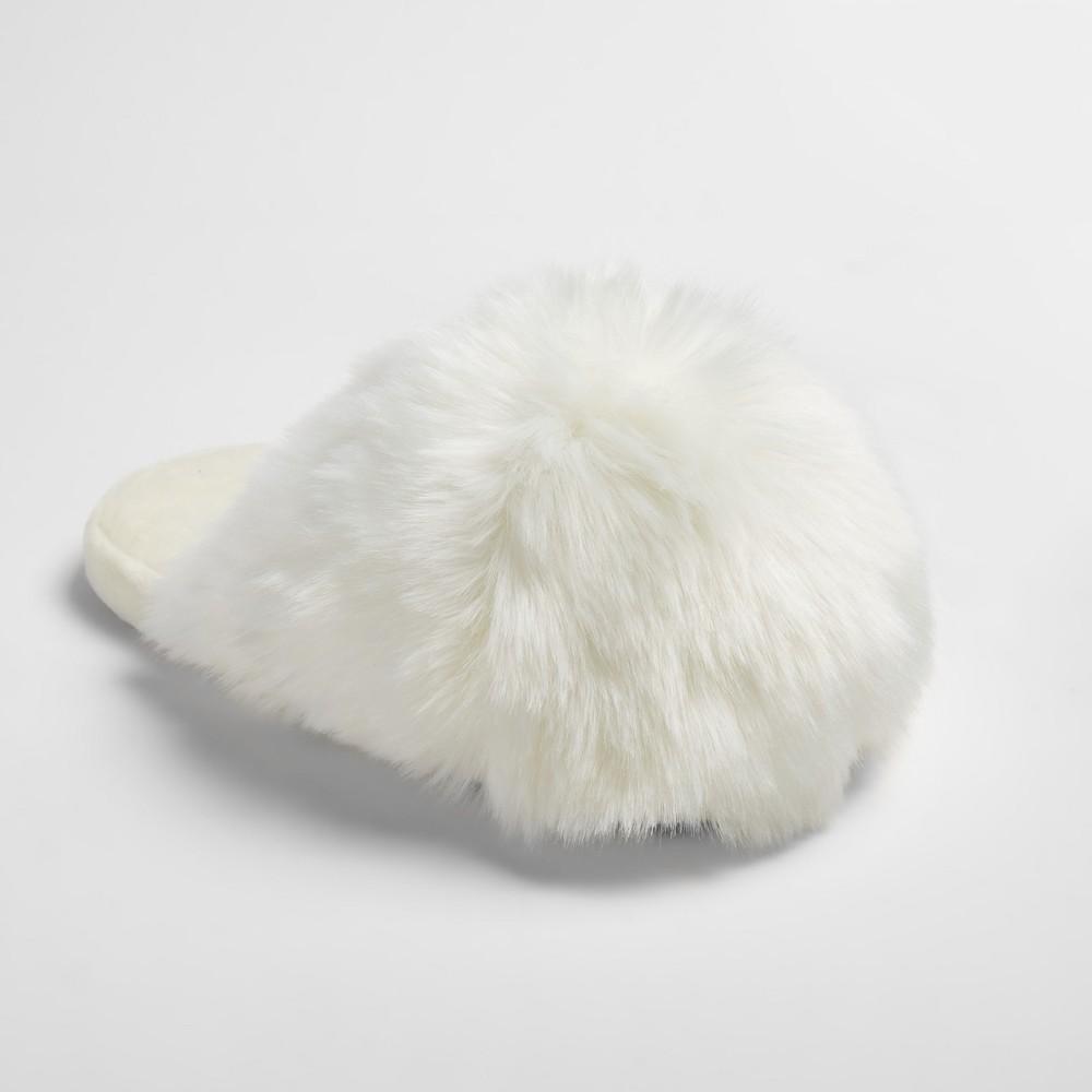 Womens Noley Unicorn Puff Slippers - Xhilaration Ivory L(9-10), Size: L (9-10)