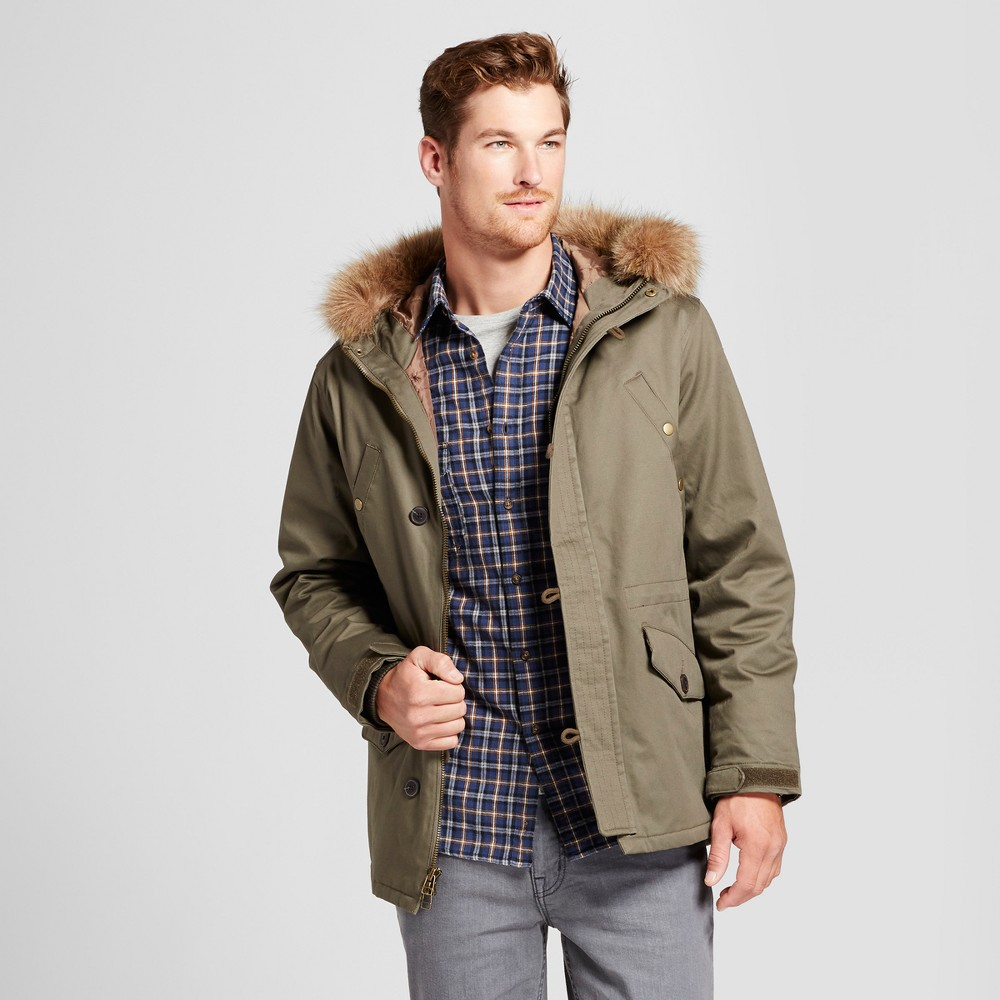 Mens Military Winter Parka-Army Green - Goodfellow & Co Olive XL