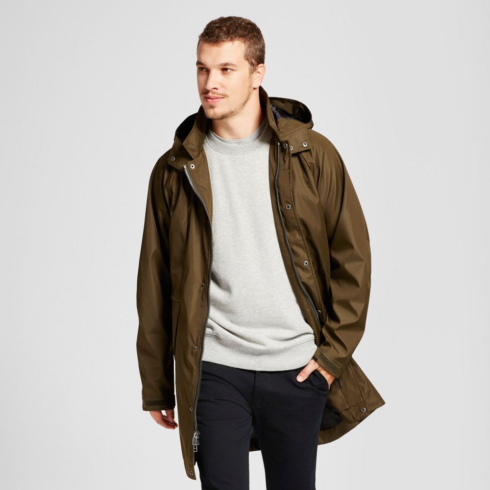 Mens Modern Rain Jacket - Goodfellow & Co Olive L, Green