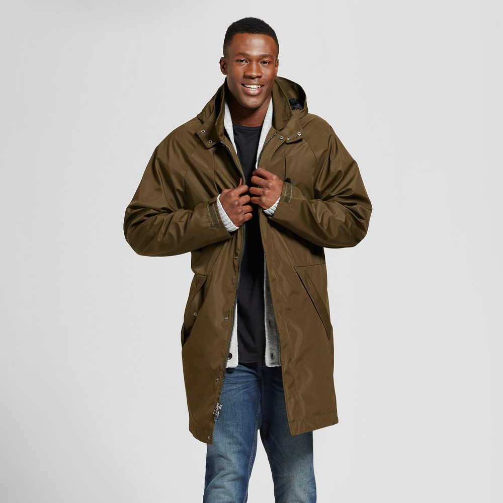 Mens Big & Tall Modern Rain Jacket - Goodfellow & Co Olive LT, Green