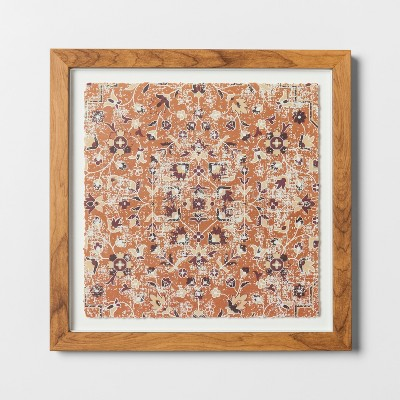 Abstract Framed Wall Art Small - Brown - Threshold™