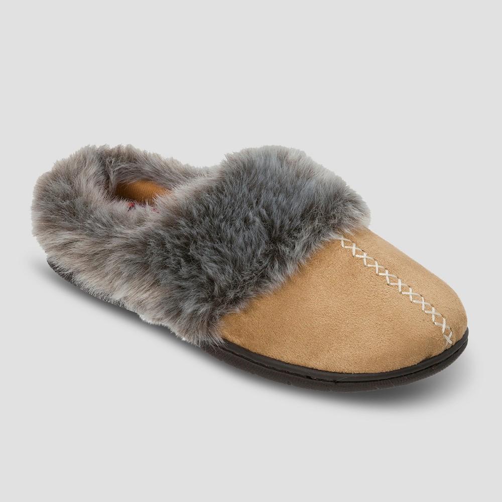 Womens dluxe by dearfoams Samara Faux Suede Clog Slippers - Desert XL(11), Size: XL (11), Tan