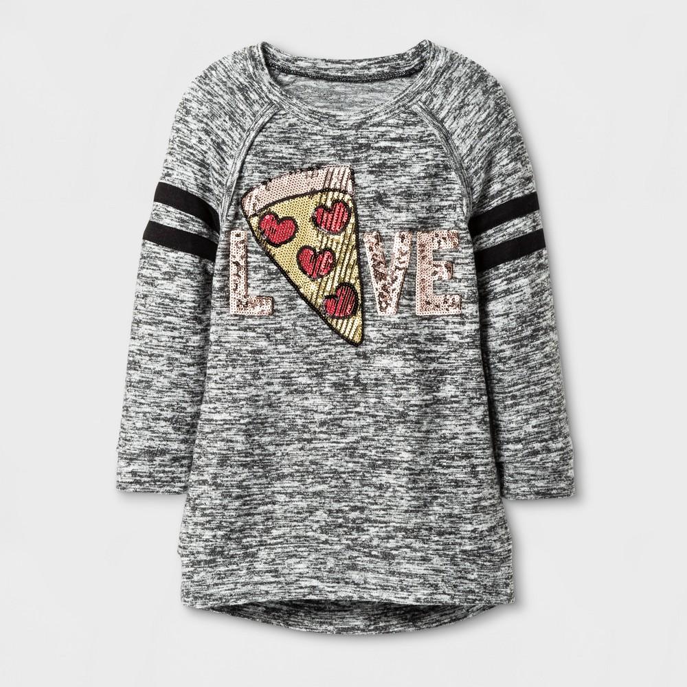 Girls Miss Chievous 3/4 Sleeve Pizza Love Tunic - Black - XL