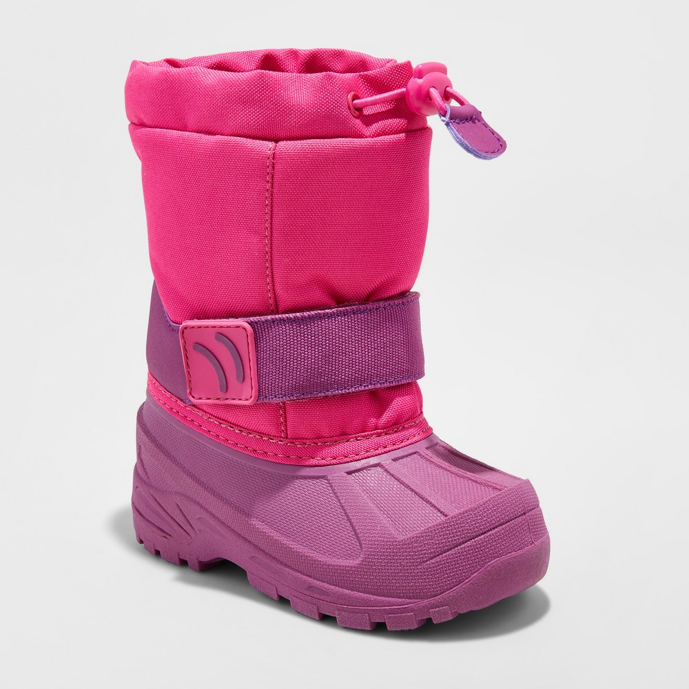 Toddler Girls Zera Toggle Top Winter Boots - Cat & Jack Pink 7-8, Size: M (7-8)