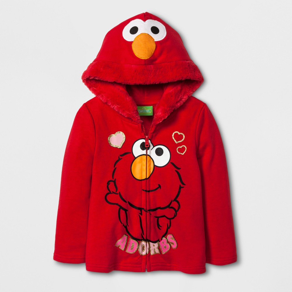 Toddler Girls Elmo Sweatshirt - Sesame Street Red 12M, Size: 12 M
