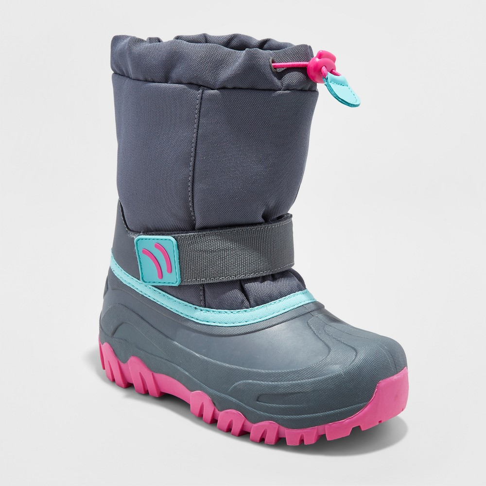 Girls Pita Toggle Top Winter Boots - Cat & Jack Gray 5
