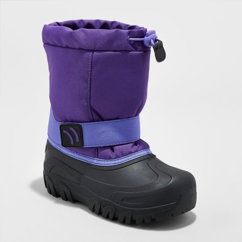 Girls Pita Toggle Top Winter Boots - Cat & Jack Purple 13