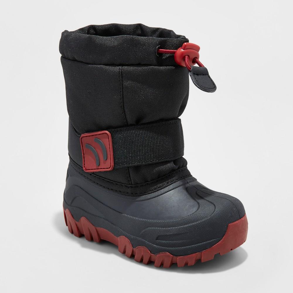 Toddler Boys Jacob Winter Boots - Cat & Jack Black 9-10, Size: L (9-10)