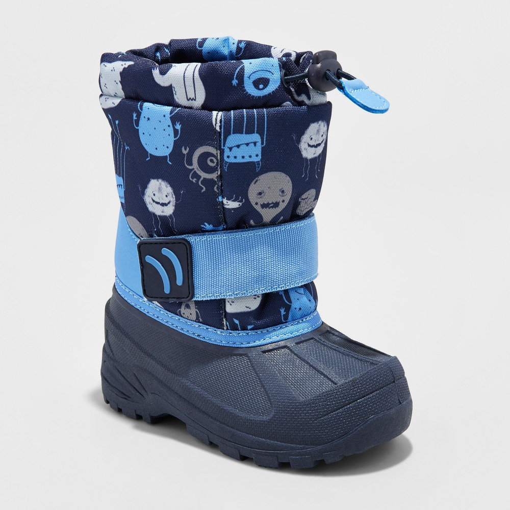 Toddler Boys Aaron Monster Winter Boots - Cat & Jack Blue 5-6, Size: S (5-6)