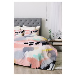 Pink Laura Fedoroqicz Serenity Abstract Comforter Set - Deny Designs®