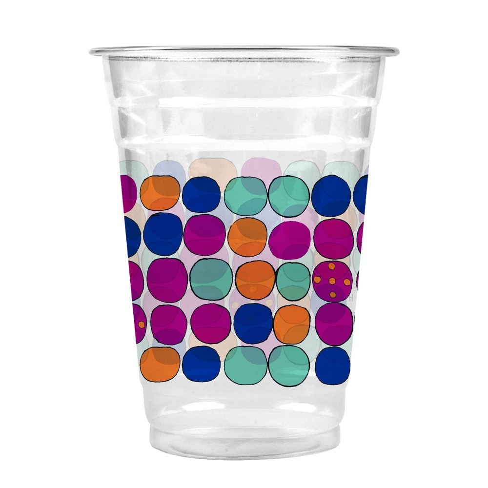 Cheeky Home Mul Disposable Cups, Multi-Colored