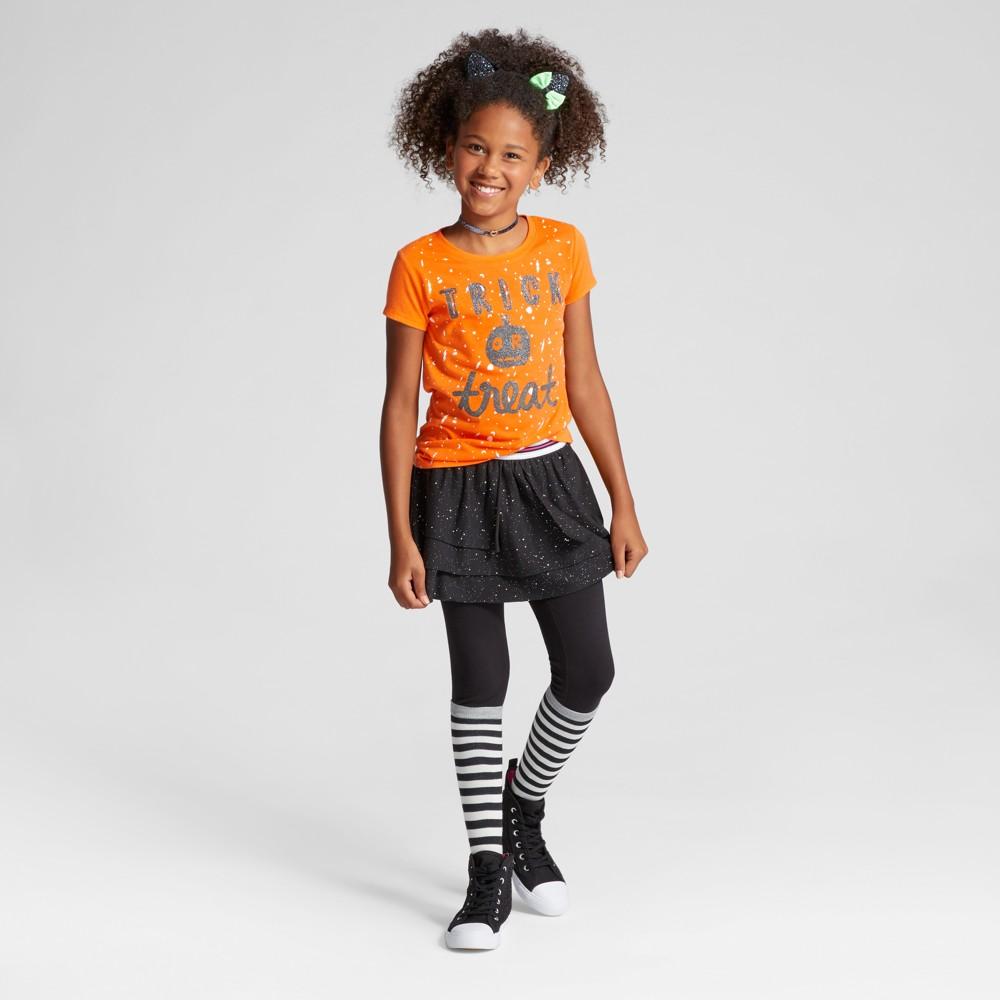 Girls Short Sleeve Trick or Treat Halloween T-Shirt - Cat & Jack Orange S