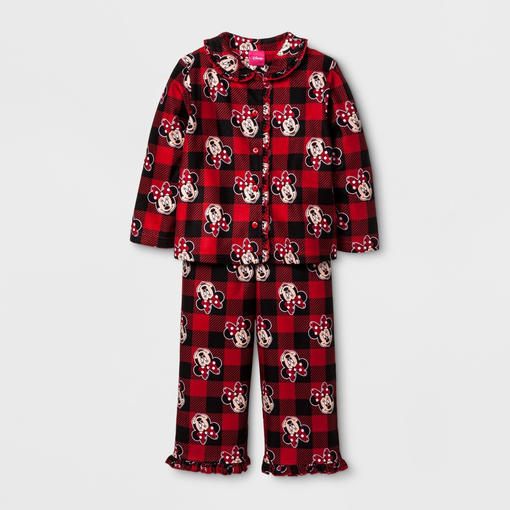 Toddler Girls Disney Mickey Mouse & Friends Pajama Set - Red 2T