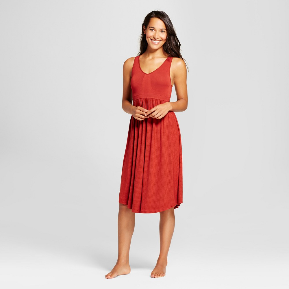 Womens Sleep chemises Red L