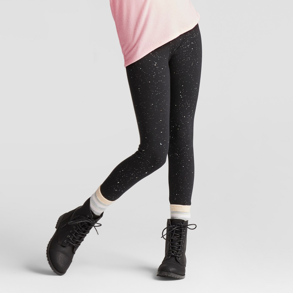 Girls Sparkle Favorite Leggings - Cat & Jack Black Xxl