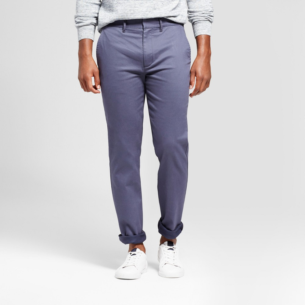 Mens Straight Fit Trouser Pants - Goodfellow & Co Navy (Blue) 36x32