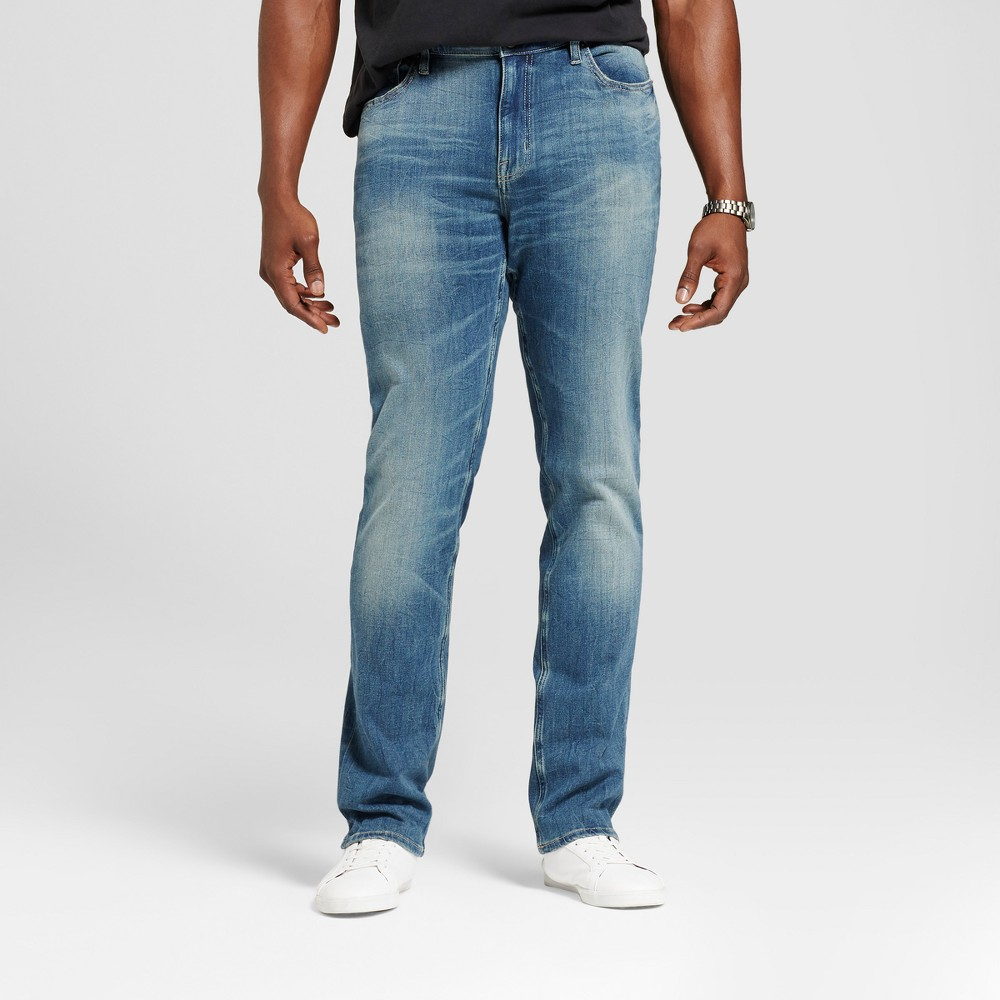 Mens Big & Tall Skinny Fit Jeans - Goodfellow & Co Slate Blue 42X36