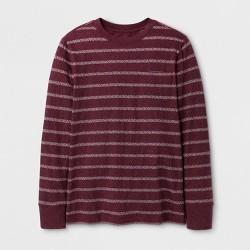 Boys' Stripe Long Sleeve T-Shirt - Cat & Jack™ Maroon