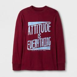 Boys' Attitude Graphic Long Sleeve T-Shirt - Cat & Jack™ Maroon