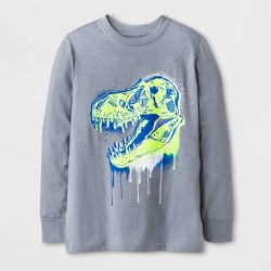 Boys' Long Sleeve Dinosaur Graphic T-Shirt - Cat & Jack™ Gray