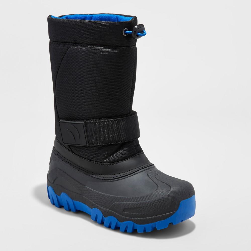 Boys Jalen Winter Boots - Cat & Jack Black 2, Black Blue