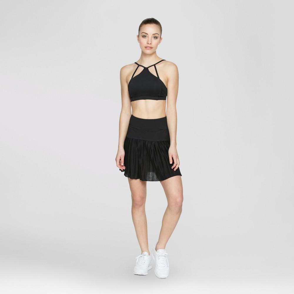Baseline - Womens Tennis Skort With Inside Ball Pocket - Black M