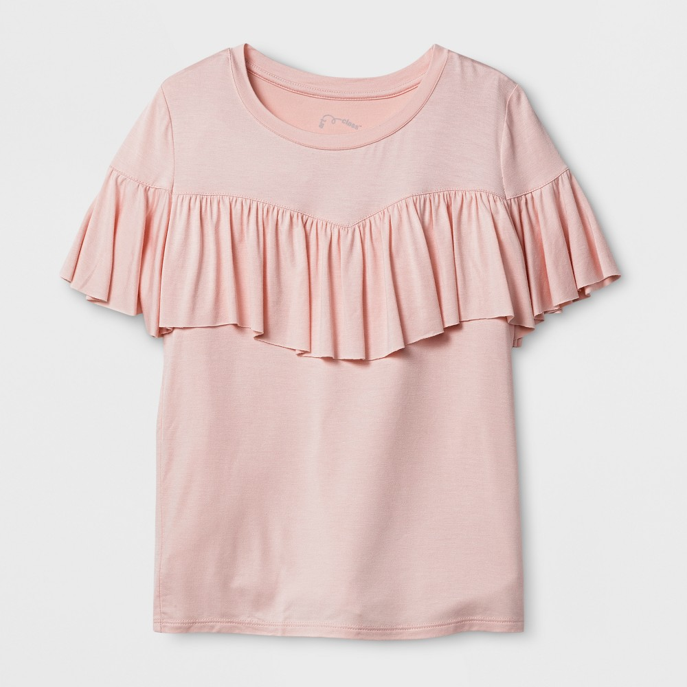 Girls Ruffle T-Shirt - Art Class Pale Dogwood S