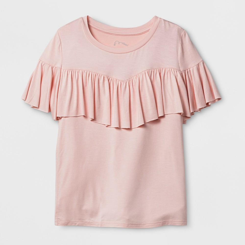 Girls Ruffle T-Shirt - Art Class Pale Dogwood M